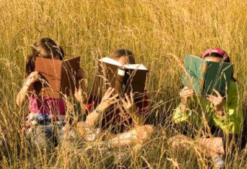 летние каникулы, девочки на лугу